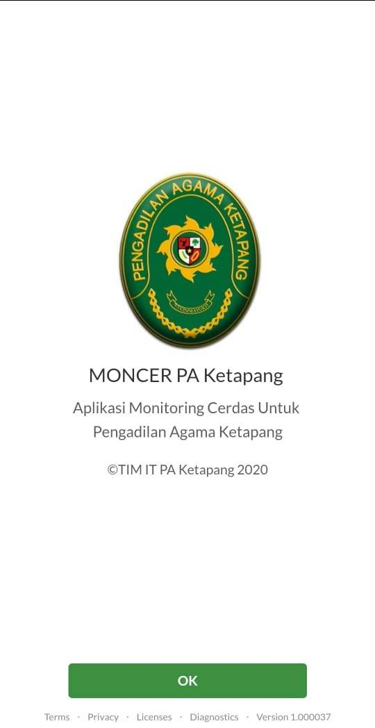 PA Ketapang Launching Aplikasi Moncer (Monitoring Cerdas)
